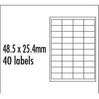 Logo etikety 48.5mm x 25.4mm, A4, matné, červené, 40 etiket, baleno po 10 ks, pro inkoustové a laser