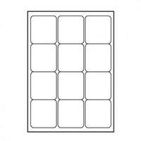 Logo etikety 66mm x 70mm, A4, matné, bílé, 12 etiket, 140g/m2, baleno po 10 ks, pro inkoustové a las