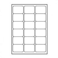 Logo etikety 68mm x 47mm, A4, matné, bílé, 18 etiket, 140g/m2, baleno po 25 ks, pro inkoustové a las