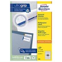 Avery Zweckform etikety 38 x 21.2 mm, A4, bílé, 65 etiket, baleno po 100 ks, 3666, pro laserové a in