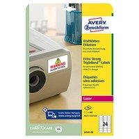 Avery Zweckform etikety 63.5mm x 33.9mm, A4, bílé, 24 etiket, trojnásobně silnější lepivost, baleno
