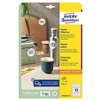 Avery Zweckform etikety 60mm, A4, bílé, 12 etiket, snímatelné, baleno po 25 ks, L7104REV-25, pro las