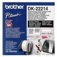 Brother papírová role 12mm x 30.48m, bílá, 1 ks, DK22214, pro tiskárny štítků