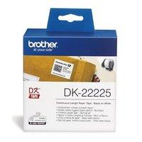 Brother papírová role 38mm x 30.48m, bílá, 1 ks, DK22225, pro tiskárny štítků