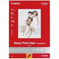 Canon Glossy Photo Paper, foto papír, lesklý, GP-501, bílý, 21x29,7cm, A4, 200 g/m2, 5 ks, 0775B076,