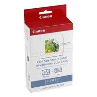 Etikety Canon Selphy CP XXX, bílá, 18, ks KC18IS, pro termosublimační tiskárny, 54x86mm, včetně napa