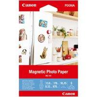"""Canon Magnetic Photo Paper, foto papír, lesklý, bílý, Canon PIXMA, 10x15cm, 4x6"""", 670 g/m2,"""