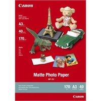 Canon Matte Photo Paper, foto papír, matný, MP-101 A3, bílý, A3, 170 g/m2, 40 ks, 7981A008, inkousto
