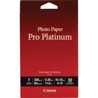 """Canon Photo Paper Pro Platinum PT-101, foto papír, lesklý, bílý, 10x15cm, 4x6"""", 300 g/m2, 5"""