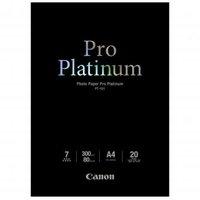 Canon Photo Paper Pro Platinum, foto papír, lesklý, bílý, A4, 300 g/m2, 20 ks, PT-101 A4, inkoustový