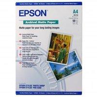 Epson Archival Matte Paper, bílá, 50, ks C13S041342, pro inkoustové tiskárny, 210x297mm (A4), A4, 19