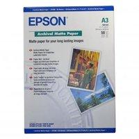 Epson Archival Matte Paper, bílá, 50, ks C13S041344, pro inkoustové tiskárny, 297x420mm (A3), A3, 19