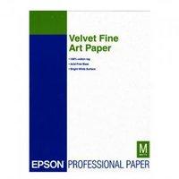 Epson Velvet Fine Art Paper, umělecký papír, sametový, bílý, A3+, 260 g/m2, 20 ks, C13S041637, inkou