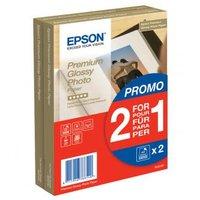 Epson Premium Glossy Photo Paper, foto papír, promo 1+1 zdarma typ lesklý, bílý, 10x15cm, 4x6&qu
