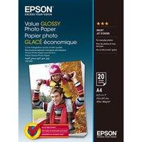 Epson Value Glossy Photo Paper, foto papír, lesklý, bílý, A4, 183 g/m2, 20 ks, C13S400035, inkoustov