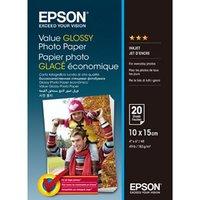 Epson Value Glossy Photo Paper, foto papír, lesklý, bílý, 10x15cm, 183 g/m2, 20 ks, C13S400037, inko