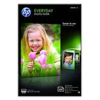 "HP Everyday Photo Paper, Glossy, foto papír, lesklý, bílý, 10x15cm, 4x6"", 200 g/m2, 100 ks,"