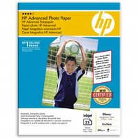"""HP Advanced Glossy Photo Paper, foto papír, lesklý, zdokonalený, bílý, 13x18cm, 5x7"""", 250 g"""