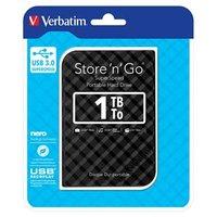 """Verbatim externí pevný disk, Store,n,Go, 2.5"""", USB 3.0, 1TB, 1000GB, 53194, černý"""