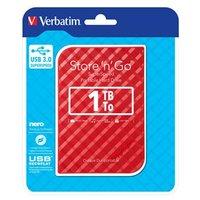 """Verbatim externí pevný disk, Store,n,Go, 2.5"""", USB 3.0, 1TB, 1000GB, 53203, červený"""