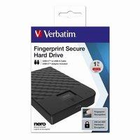 "Verbatim externí pevný disk, Fingerprint Secure HDD, 2.5"", USB 3.1 Gen (3.0), 1TB, 53650, č"