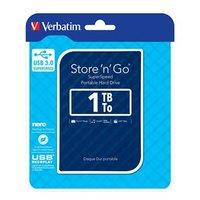 "Verbatim externí pevný disk, Store ,n, Go, 2.5"", USB 3.0 (3.2 Gen 1), 1TB, 53200, modrý"