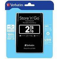 """Verbatim externí pevný disk, Store,n,Go, 2.5"""", USB 3.0, 2TB, 2000GB, 53177, černý"""