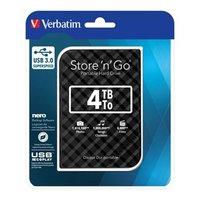 """Verbatim externí pevný disk, Store,N,Go, 2.5"""", USB 3.0, 4TB, 53223, černý"""