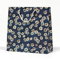 Papírová taška, květy, mix barev, 20x20,5x8cm, 5ks, cena za 1ks