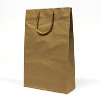 Papírová taška, eko, hnědá, 37x11x25cm, 5ks, cena za 1ks