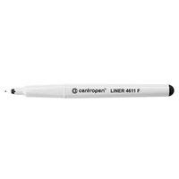 Centropen, liner 4611, černý, 10ks, 0.3mm, jemný plastový hrot, cena za 1ks