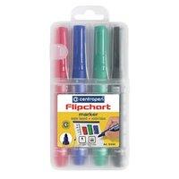 Centropen, sada flipchart marker 8550, color, 4ks, 2.5mm, nepropíjí se papírem