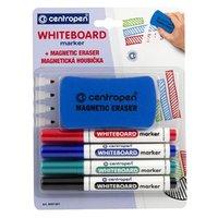 Centropen, sada whiteboard marker 8559, color, 4ks, 2.5mm, alkoholová báze. součásti baleni je magne