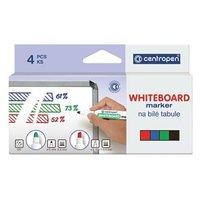Centropen, sada whiteboard marker 8569, color, 4ks, 1-4,5mm, alkoholová báze