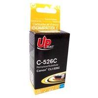 UPrint kompatibilní ink s CLI526C, cyan, 10ml, C-526C, s čipem, pro Canon Pixma  MG5150, MG5250, MG6