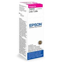 Epson originální ink C13T66434A, magenta, 70ml, Epson L100, L200, L300
