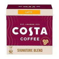 Kávové kapsle Dolce Gusto café au lait, Signature Blend Latte, 16 kapslí, krabička