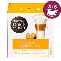 Kávové kapsle Nescafé Dolce Gusto latte macchiatto, 3x16 kapslí, velkoobchodní balení karton