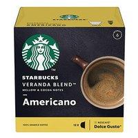 Kávové kapsle Starbucks americano, veranda blend, 3x12 kapslí, velkoobchodní balení karton