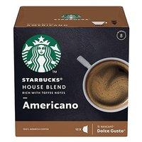 Kávové kapsle Starbucks americano, house blend, 3x12 kapslí, velkoobchodní balení karton