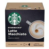 Kávové kapsle Starbucks latte macchiatto, 3x12 kapslí, velkoobchodní balení karton