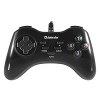 Gamepad Defender Game Master G2, 13tl., USB, černý, turbo režim, Windows 2000/XP/Vista/7/8/10