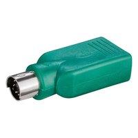 USB Redukce, pro myš, PS/2 M-USB A (2.0) F, 0, černá