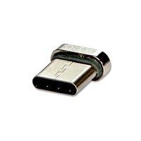 USB (2.0) Redukce, Magnetický konec-USB C (3.1) M, 0, stříbrná, redukce k magnetickému kabelu