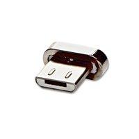USB (2.0) Redukce, Magnetický konec-USB micro (2.0) M, 0, stříbrná, redukce k magnetickému kabelu