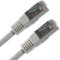 FTP patchcord, Cat.5e, RJ45 M-0.5m, stíněný, šedý, economy
