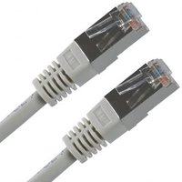 FTP patchcord, Cat.5e, RJ45 M-5m, stíněný, šedý, economy