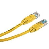 UTP patchcord, Cat.5e, RJ45 M-7.5m, nestíněný, žlutý, economy