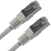 FTP patchcord, Cat.5e, RJ45 M-15m, stíněný, šedý, economy