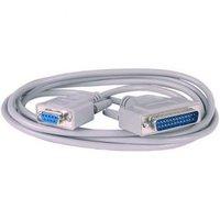Datový kabel sériový+paralelní, 25 pin M- 9 pin F, 2m, šedý, k modemu